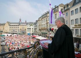 Er sprach über eine große Einladung und ihren Geist: der EKD-Ratsvorsitzende Bischof Dr. Heinrich Bedford-Strohm (Foto: Meike Böschemeyer)